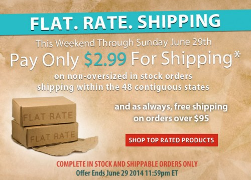 Flat Rate Shipping Weekend