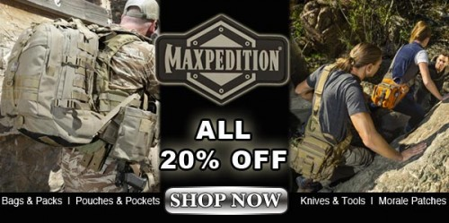 20% OFF ALL Maxpedition