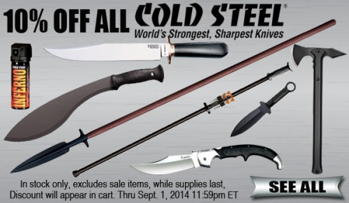 All Cold Steel On Sale