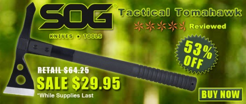 53% OFF SOG Tactical Tomahawk
