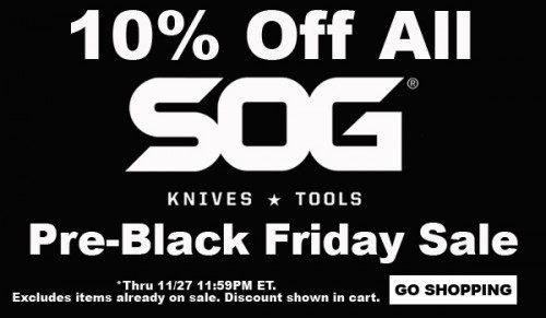 10% Off All SOG