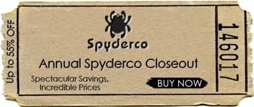 Annual Spyderco Closeout