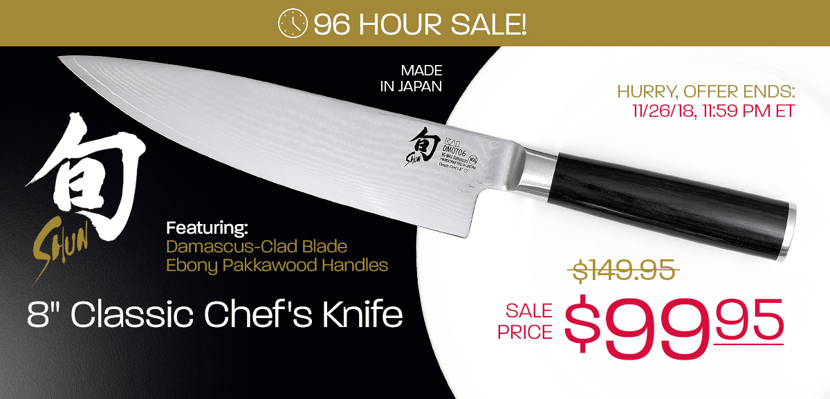 $99 95 for Shun's Best Chef's Knife - Only Four Days Left