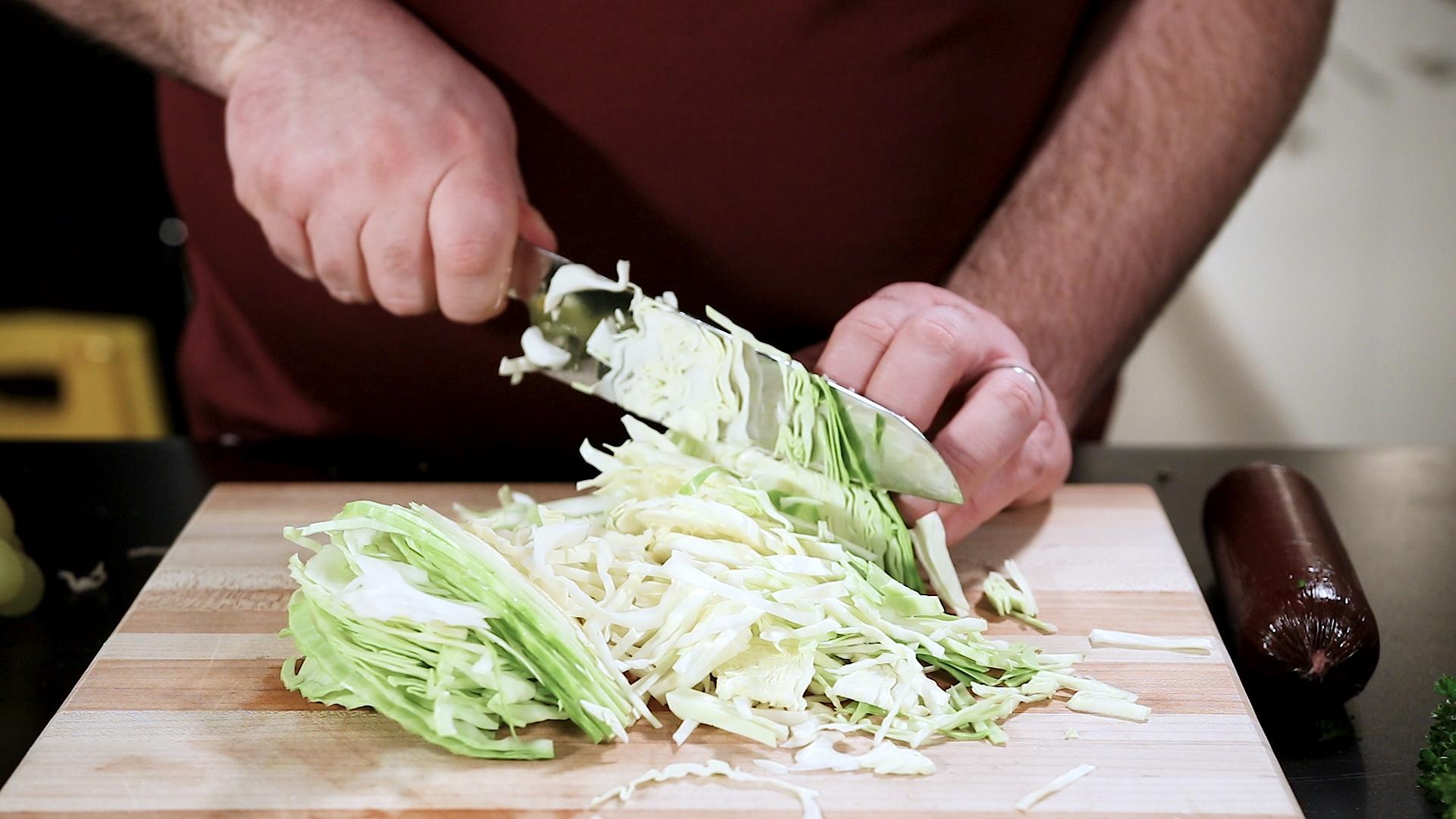 "Shun Sora 7"" Santoku Cutting Cabbage"
