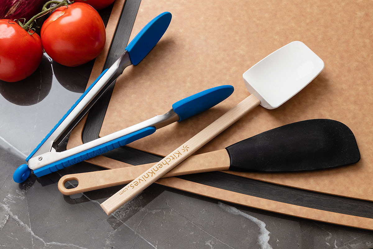 Silicone Tongs and Kitchen Utensils