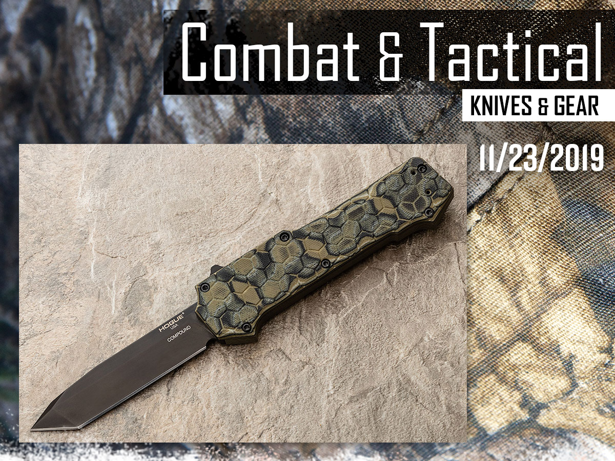 Combat & Tactical Knives & Gear, featuring image of Hogue Compound OTF Automatics