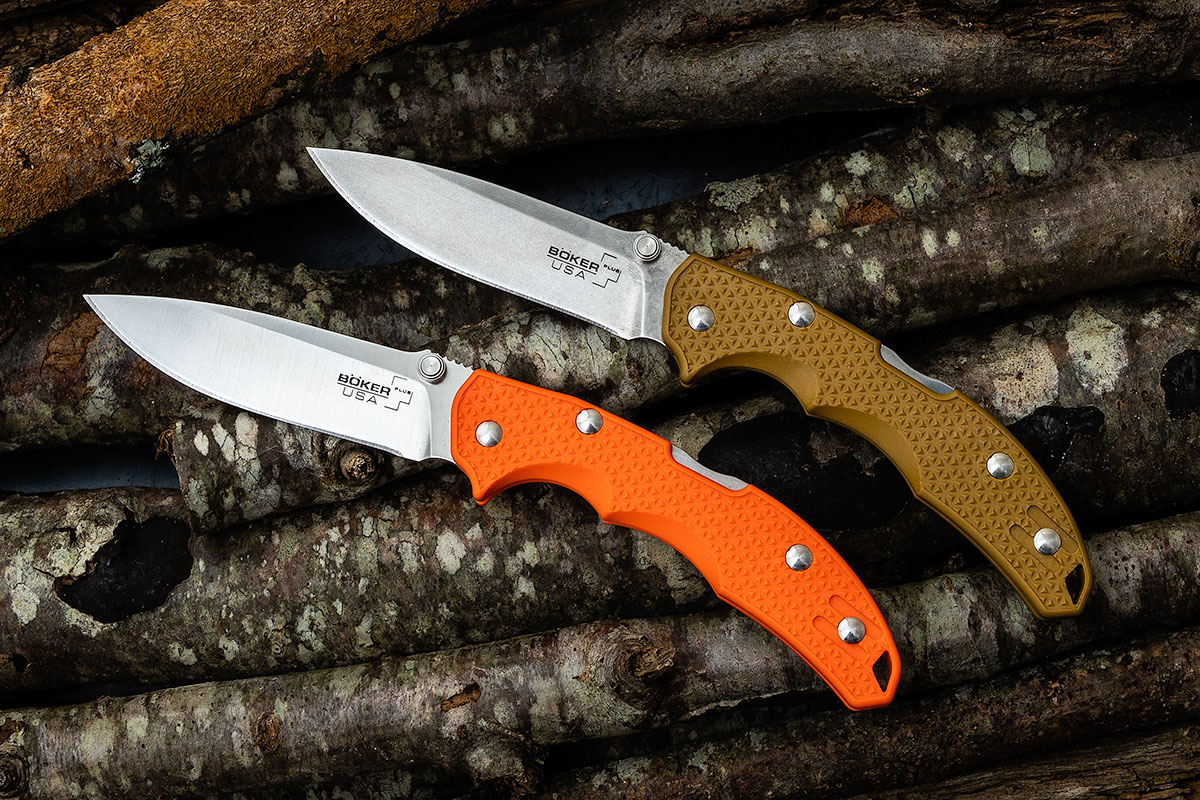 Boker Plus USA Orange and Coyote Folding Knives