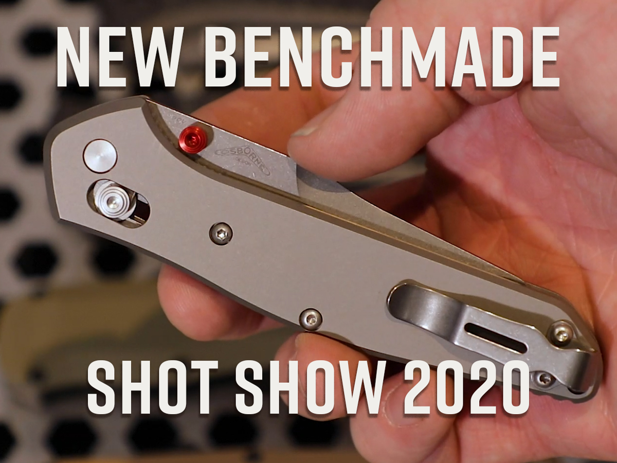 New Benchmade Shot Show 2020, Benchmade 940 held in hand closed