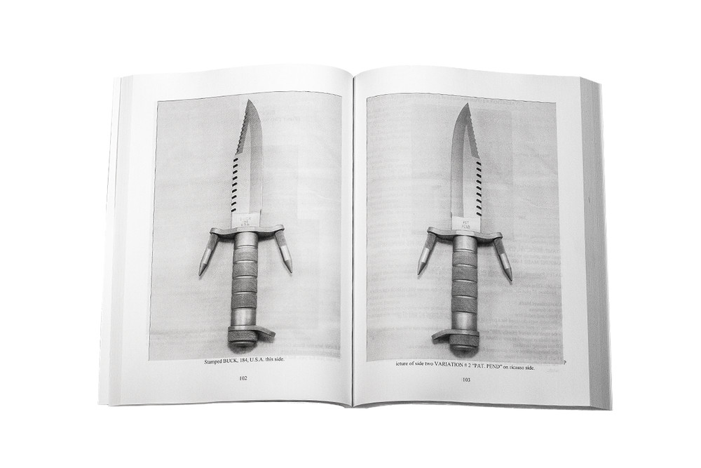 Open book displaying a BuckMaster knife