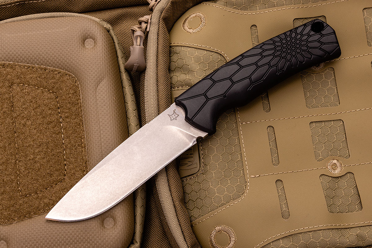 Fox Core Fixed Blade on a Backpack