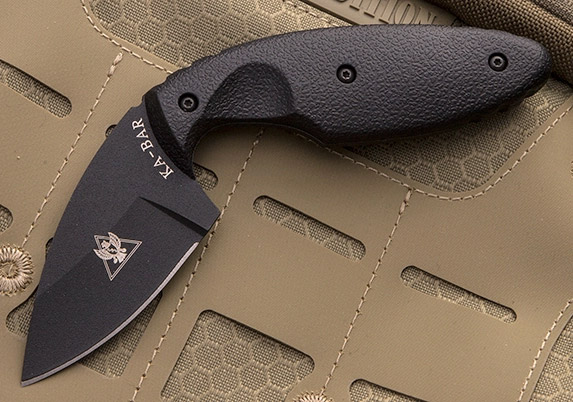 KA-BAR TDI Investigator Knife on tactical backpack
