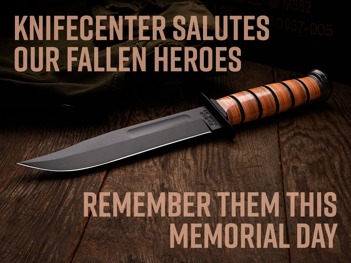 Knifecenter salutes our fallen heroes. Remember them this memorial day. Bowie knife