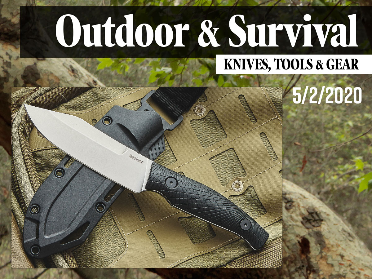 Outdoor & Survival Gear Roundup image featuring Kershaw Camp 5 Fixed Blade