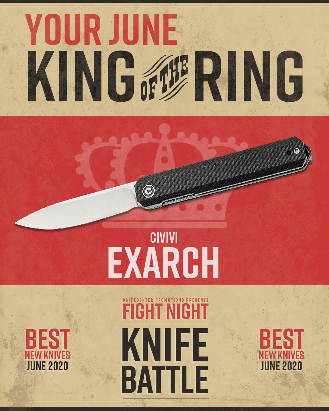 KnifeFight Winner Poster: Civivi Exarch