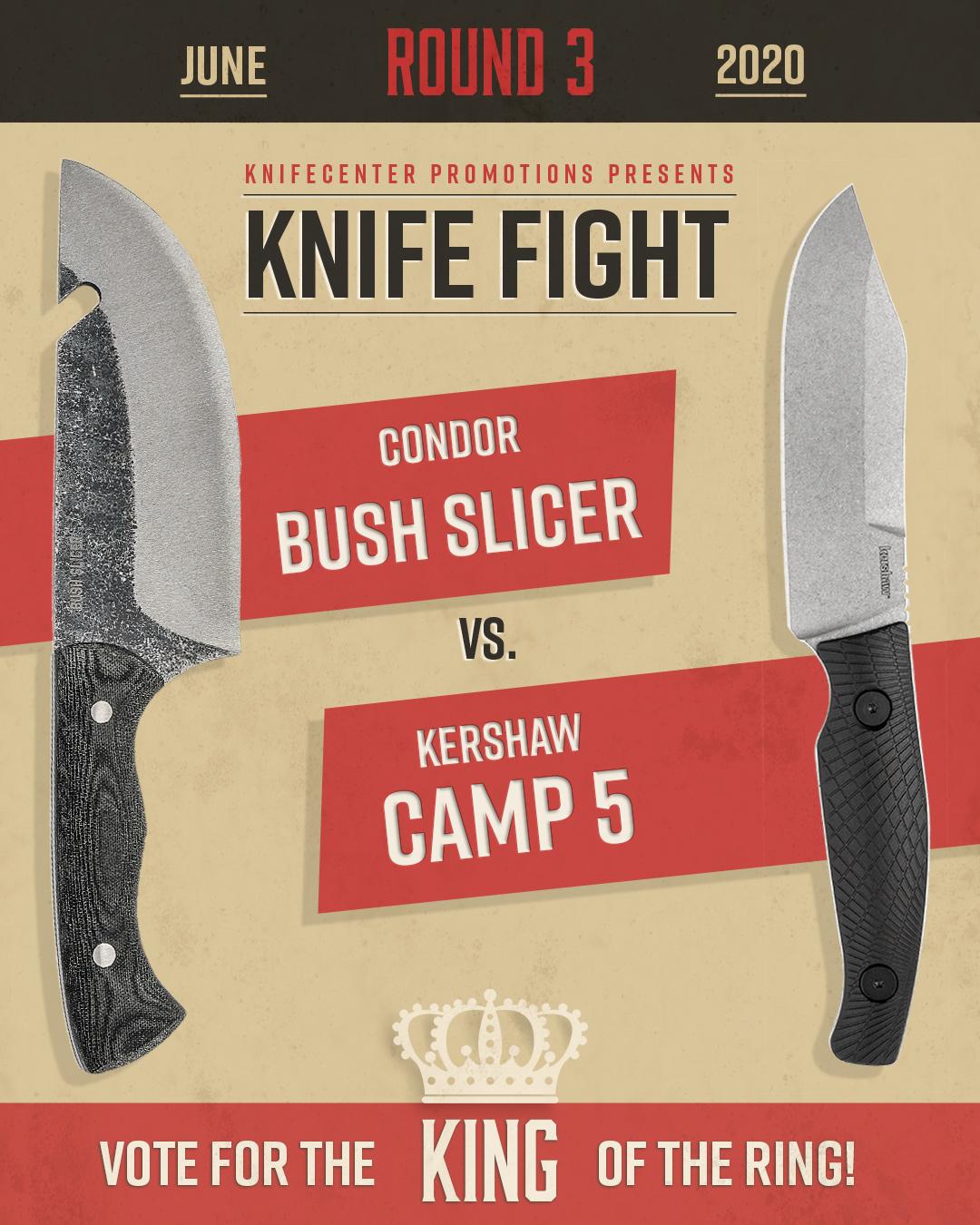 Condor Bush Slicer vs Kershaw Camp 5