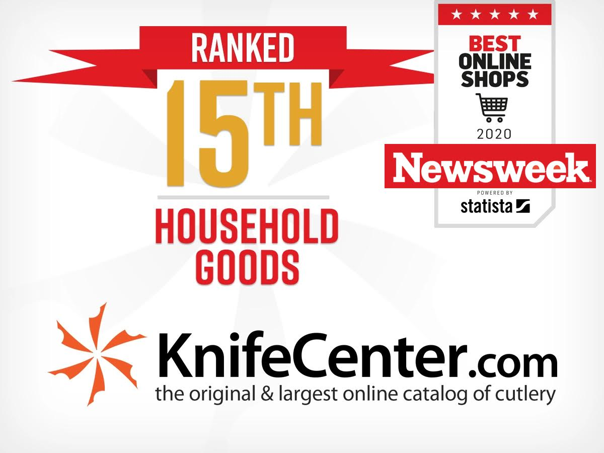 KnifeCenter Ranked 15th in Household Goods for Newsweek's Best Online Shops 2020