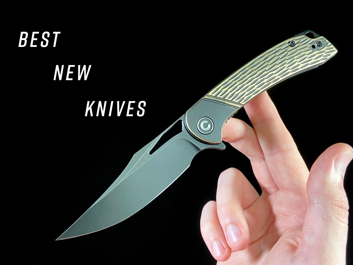 featured image for Best New Knives, Civivi Dogma knife on a black background