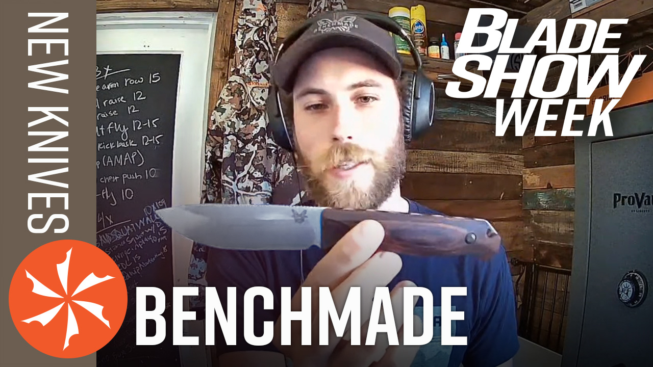 Troy Hellman of Benchmade showing a new knife!
