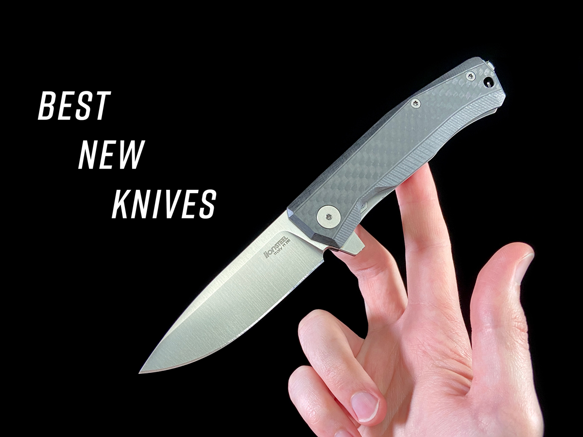 BEST NEW KNIVES and Lionsteel myto folding knife in hand, black background