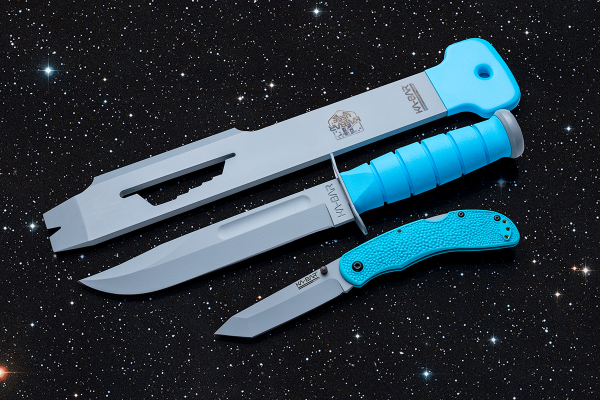 KA-BAR's 2020 USSF Space Force collection on a field of stars